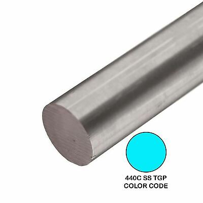 440c Tgp Stainless Steel Round Rod 0.6875 1116 Inch X 12 Inches