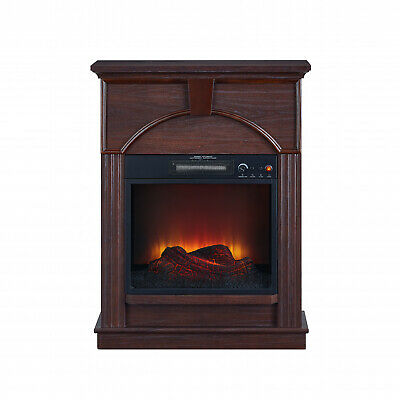 34 Inch Electric Fireplace Freestanding LED Flame Remote Con