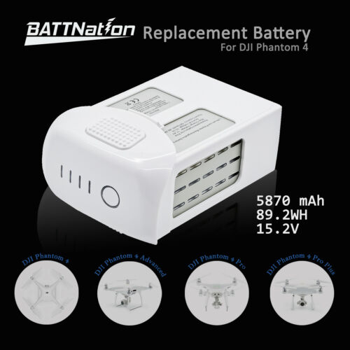 DJI Phantom 4 Pro Intelligent Flight Replacement Battery 5870mAh High Capacity