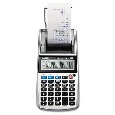 Canon P1 Dhv 12 Digit Palm Printing Calculator Purple Print 2 Lines Sec P1dhv