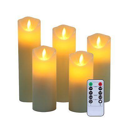 Senza Fiamma Candele di Cera Reale No Plastica Pilastri Realistici LED Dancing