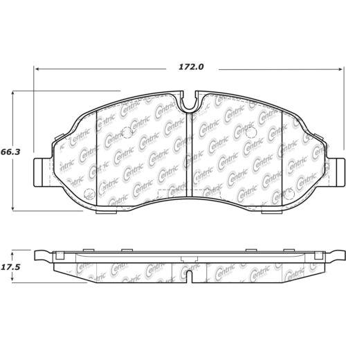 Centric Rear Metallic Brake Pads 1 Set For 2015-2017 Ford Transit-150
