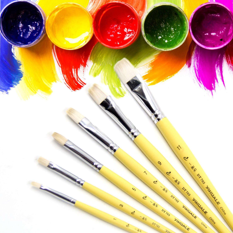 12PCS PRO Paint Brush Set Hair artist paints brush for ...
