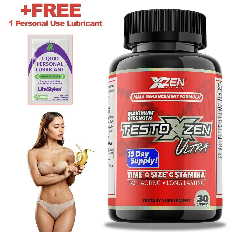 #1 Best Men's Testosterone Booster Male Enhancement Sexual 30 pills Test Boost