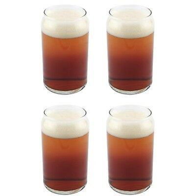 Libbey Can Shaped Beer Glass - 16 oz - 4 PACK