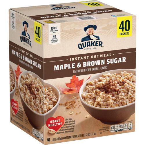 Quaker Instant Oatmeal, Maple Brown Sugar (40 pk.)