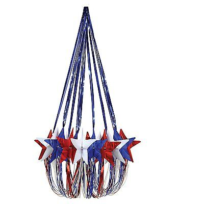 Patriotic 4th of July Party Decoration Red White Blue STAR CHANDELIER](Fourth Of July Party Supplies)