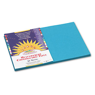 Sunworks Construction Paper 58 lbs. 12 x 18 Turquoise 50 Sheets/Pack 7707