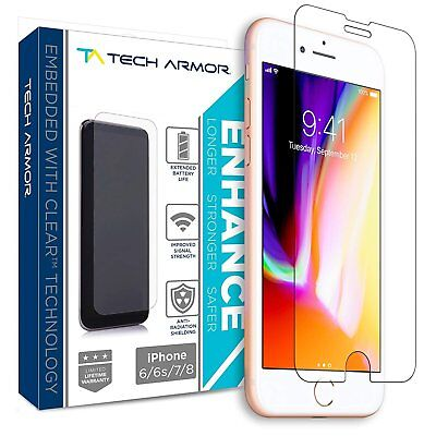 Tech Armor ENHANCE Radiation Blocking Screen Protector for Apple iPhone 8/7/6
