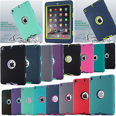 Shockproof Heavy Defender Case Cover For Apple iPad Mini 1/2/3/4 iPad 2/3/4 Air