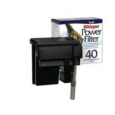 Aquarium Fish Tank Power Filter 40 Gal Gallon Salt Fresh Water Whisper Bio-Bag