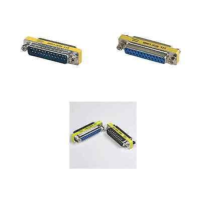 Lot 1 5 10 25-Pin gender changer DB25 adapter Male Female Coupler USA-Seller