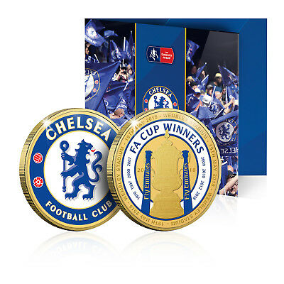 Chelsea FC Gold Coin/Medal - The Emirates FA Cup Winners Commemorative