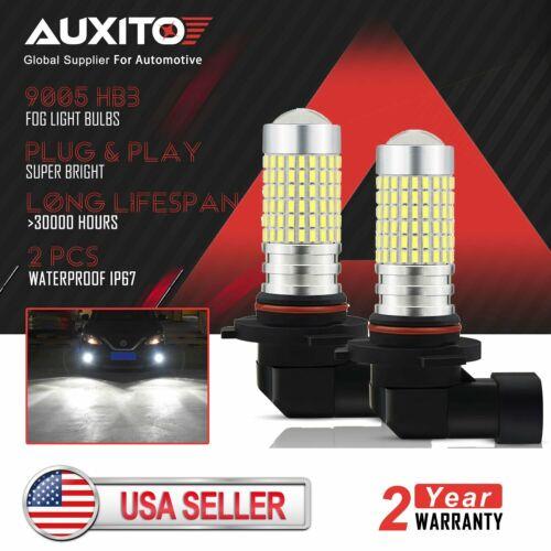 Pack of 2 Super Bright High Power COB Chips LED Fog Daytime Running Lights DRL Bulbs Replacement for Cars AUXLIGHT H1 LED Fog Light Bulbs 6000K Xenon White Trucks