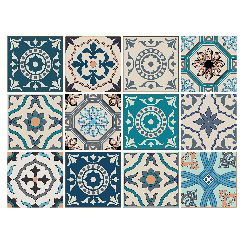 Dekorative Stickerfliesen mit tollen Motiven und Ornamenten für Wände & Fliesen