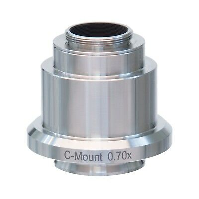 0.7x Stainless Steel C-mount Camera Adapter For Leica Microscopes