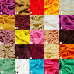 100-Viscose-Plain-Pashmina-Scarf-Stole-Wrap-Shawl-High-Quality-Many-Colours