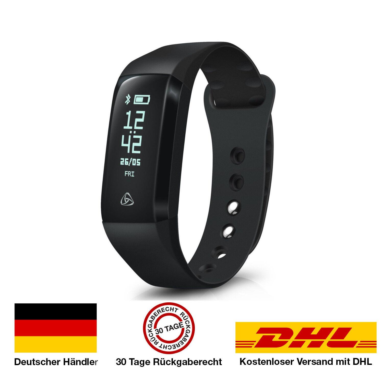 Fitness-Armband mit Pulsuhr, Schrittzähler, GPS- und Schlaftracker iOS & Android