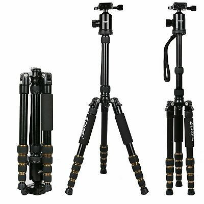 Z669 Pro Portable Aluminium Tripod Monopod&Ball Head stand For DSLR Camera