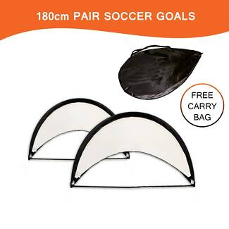 SOCCER GOAL SALE! 2 X 180CM OR 160CM PAIR DISCONTINUED STOCK Revesby Bankstown Area Preview