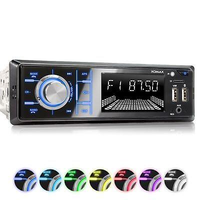 AUTORADIO MIT BLUETOOTH FREISPRECH-EINRICHTUNG USB SD AUX MP3 4x60W 1DIN OHNE CD (Radio Usb Mp3)