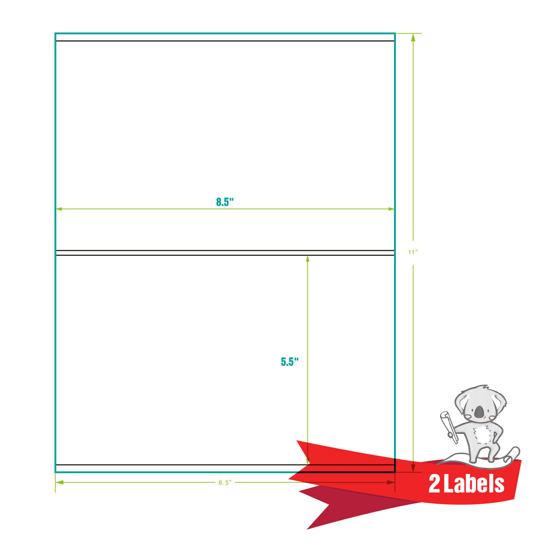 220 Half Sheet Shipping Labels 85x55 Self Adhesive FBA Mailing 2 Per Sheet