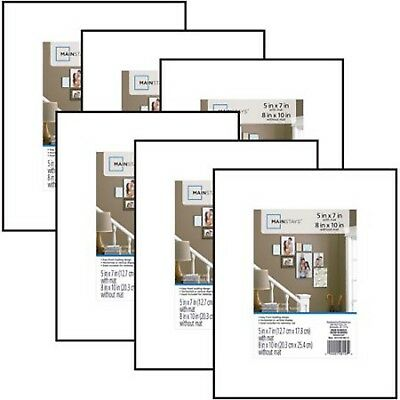 MAINSTAYS Format PICTURE FRAME 8x10 matted to 5x7  Home Decor Gallery Set of 6