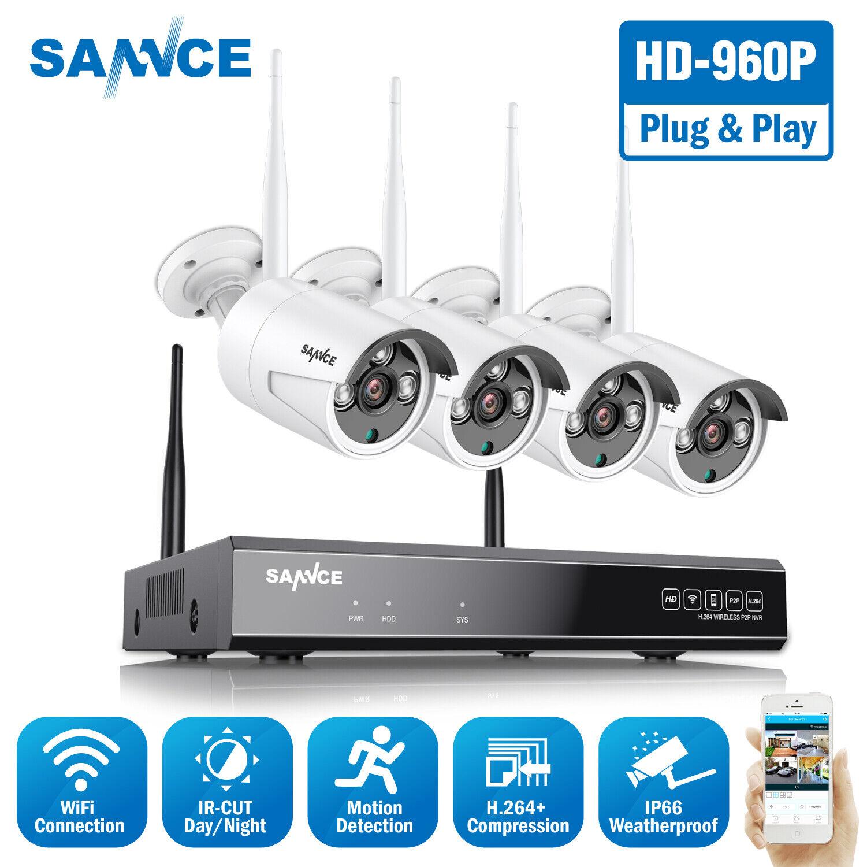 SANNCE H.264+ Wireless 8CH 1080P NVR Outdoor 960P CCTV Secur