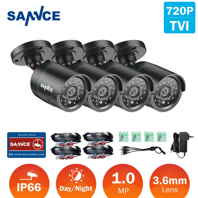 SANNCE 5in1 1080P HDMI 8CH DVR 720P 1500TVL CCTV Security Camera System IR Night