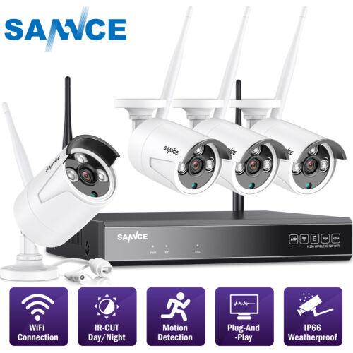 SANNCE 8CH WLAN Überwachungskamera 1080P NVR 960P Kamera Videoüberwachung Motion
