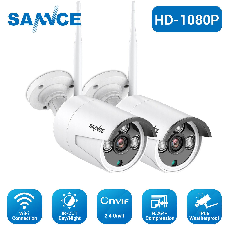 SANNCE 4 Wireless 1080P HD Video WiFi Security Camera IP Net
