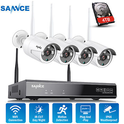 SANNCE 8CH WLAN Überwachungskamera 1080P NVR WIFI Videoüberwachung 960P Kameras (Video-kameras)