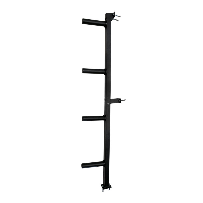 Titan Fitness Wall Mounted 4-Peg Olympic Bumper Plate Weight Rack Storage