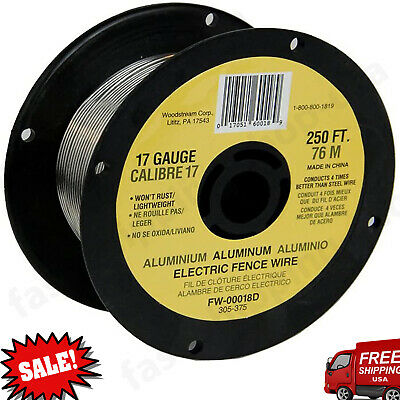 Fi-shock Electric Fence Wire 250 Aluminum Fw-00018d 1 Pack