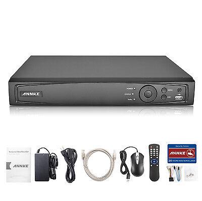 ANNKE 1080P 4CH PoE Überwachungkamera 2,0 MP NVR Rekorder SET Video DVR Netzwerk