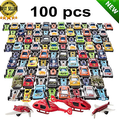 Racing Cars Set Race Car Lot Toy Box for Boys Children Christmas Gift 100 Pcs](Boxes For Christmas Gifts)
