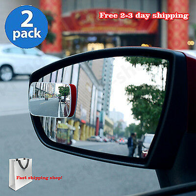 Adjustable Blind Spot Mirror Wide Angle Rear View Car Side Mirror 3M Adhesive