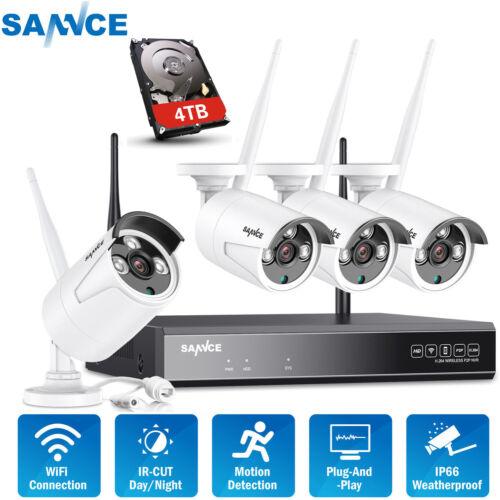SANNCE 8CH WLAN IP Überwachungskamera 1080P NVR Überwachungssysteme 960P Kameras