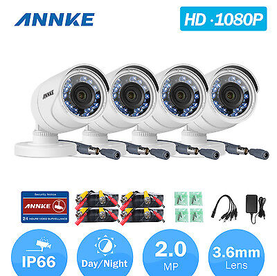 ANNKE Full HD 1080P 2MP Video TVI Security Camera Indoor Outdoor IR Night Vision