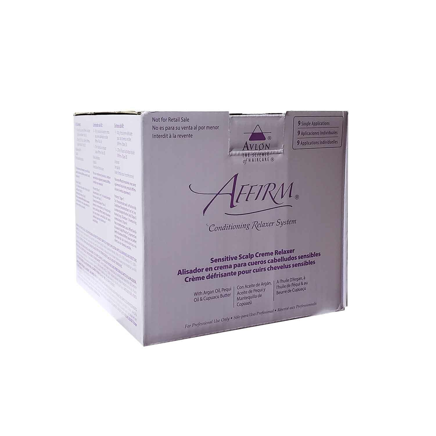 Avlon Affirm Sensitive Scalp Conditioning Relaxer (9 Single pack) Free shipping! Hair Care & Styling