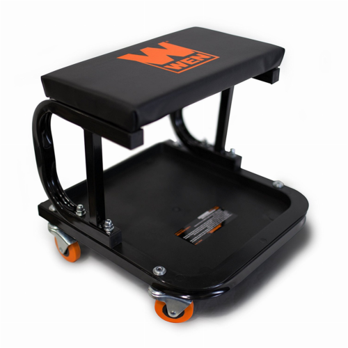 Mechanic Creeper Seat Garage Rolling Work Shop Stool Cart