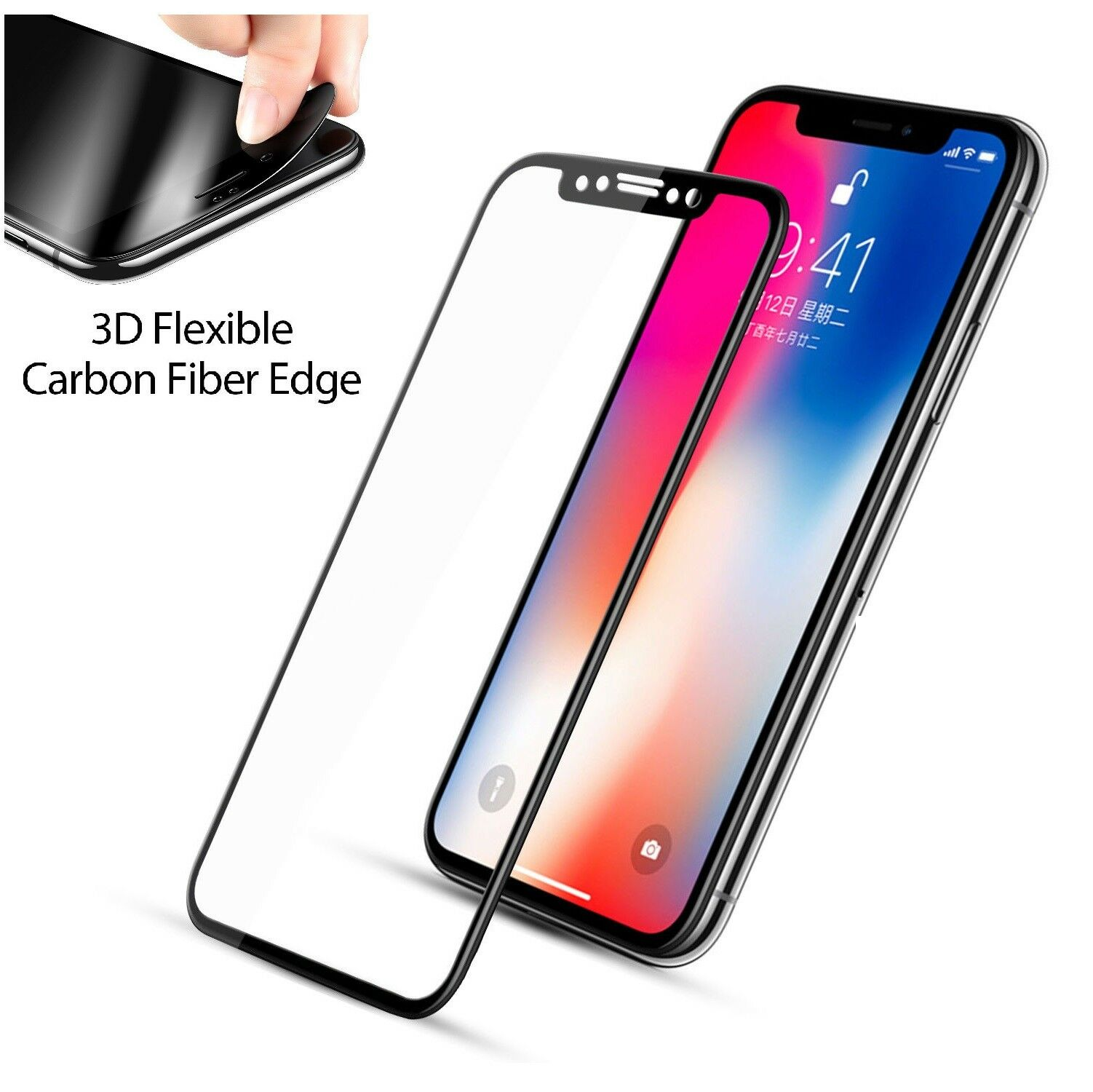 Купить Apple iPhone - Full Coverage Tempered Glass Screen Protector For iPhone 6 7 8 Plus X Xs Max XR