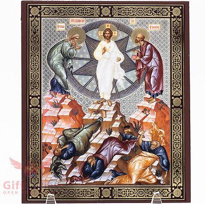 Wooden Icon Transfiguration Of Jesus                             6 8 X 8 2