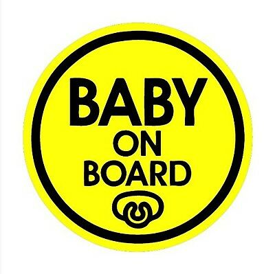 Pacifier Baby on Board Magnet Decal Safety Caution Sign for Car Bumper