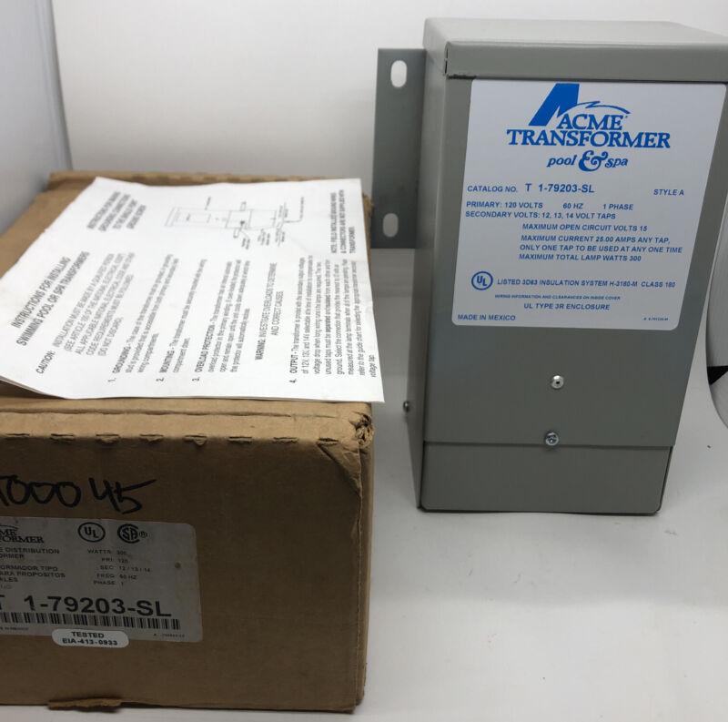 Acme Pool & Spa Transformer T 1-79203-SL 120v 60Hz 1Phase 300w **NEW**