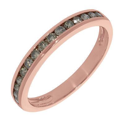 Prism Jewel 0.51Ct Channel Set Round Cut Brown Color Diamond Anniversary (Channel Set Round Cut Diamond)