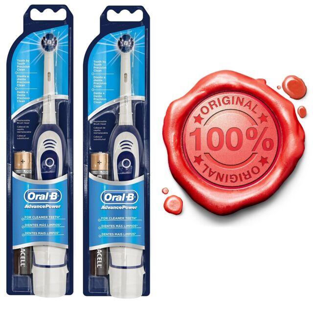 2x Oral-B Advance Power Elektrische Zahnbürste Reiseset