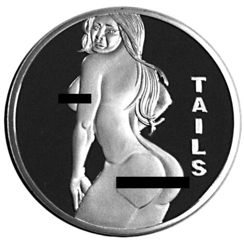 Sexy Stripper Pin Up Lucky Heads Tails Challenge Coin US SELLER FAST SHIPPING