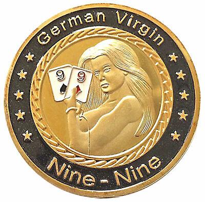 German Virgins Pocket Nines Poker Card Guard Hand Protector US Seller Fast Ship