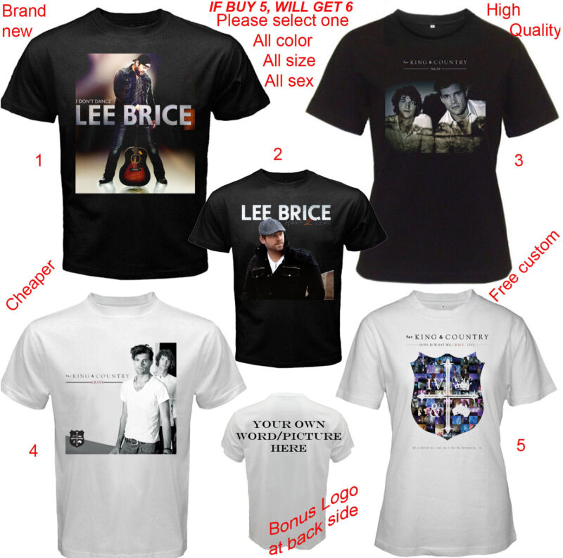 Lee Brice and for KING & Country band Shirt All Size Adult S-5XL Kids Infants